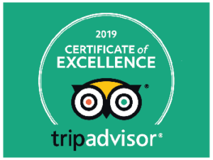 Tripadvisor 2019 certificate of excellence winner